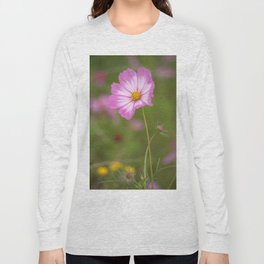 Pink and White Cosmos Long Sleeve T-shirt