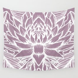 purple lotus Wall Tapestry