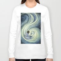 waterfall Long Sleeve T-shirts featuring Waterfall by Anneliese Juergensen
