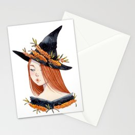 Sea Buckthorn Witch Stationery Cards