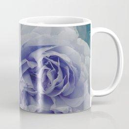 Violet Teal Floral Bloom Coffee Mug