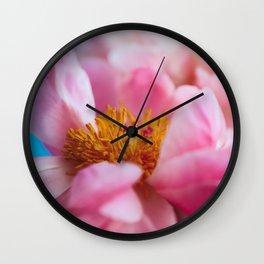 Peony Blossoms Wall Clock
