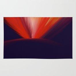 Flaming Planet Rug