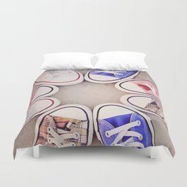 in love with chuck Duvet Cover