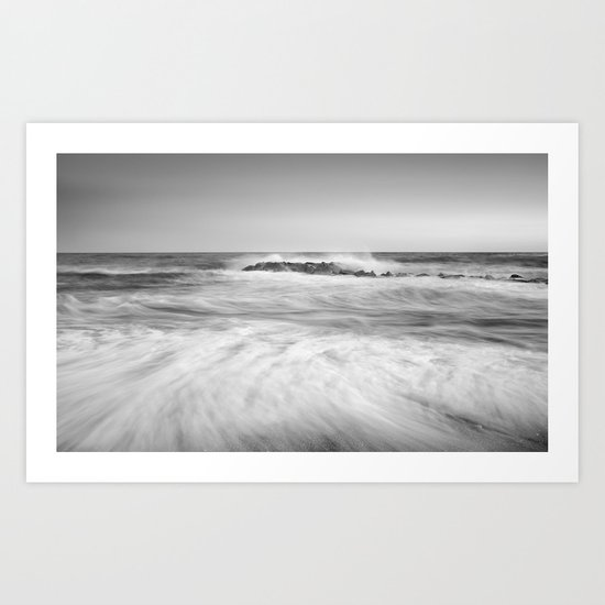 The force of the sea. M Art Print