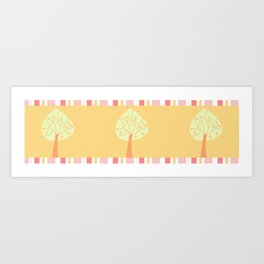 candy trees on yellow Art Print