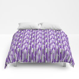 Modern Tabs in Purple and Lavender on Gray Comforters
