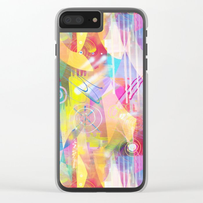 Summer Chaos Painted Clear iPhone Case