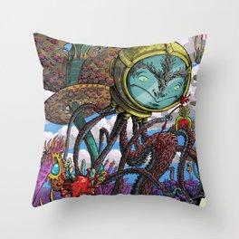 Otherworldly Ecologist Throw Pillow