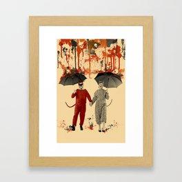 Skeleton Rain Framed Art Print