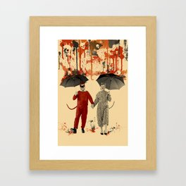 Skeleton Rain Framed Art Print
