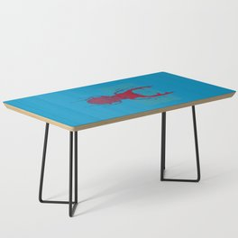 Stitches: Red stag Coffee Table