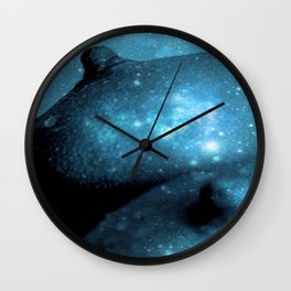 Teal Galaxy Breasts / Galaxy Boobs Wall Clock