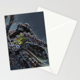 """Release the Kraken"" - Giant Octopus Digital Illustration Stationery Cards"