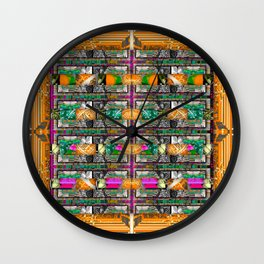 orange square Wall Clock