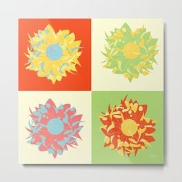 Abstract Chrysanthemums Metal Print