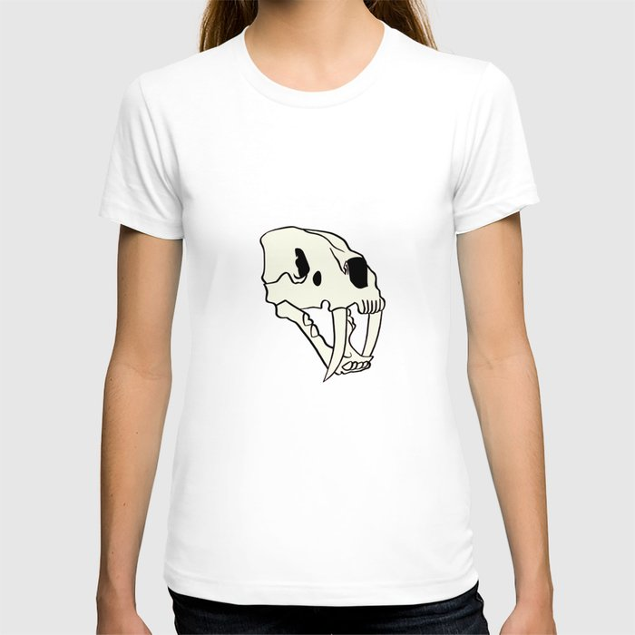 Rose Tiger Skull White T-shirt