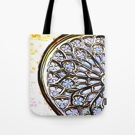 Gothic Rose Drawing Cathedral Barcelona Tote Bag