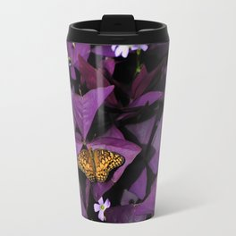 Purple Oxalis Travel Mug