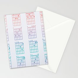 Guitar Chords Stationery Cards