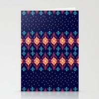 nordic Stationery Cards featuring Nordic Star by RED ROAD STUDIO