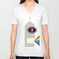 bender V-neck T-shirts featuring Odd Bender by Taylor Hedrick