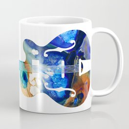 Vintage Guitar - Colorful Abstract Musical Instrument Coffee Mug