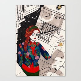 Urban Witch: Light Canvas Print