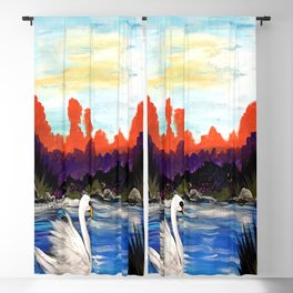 Swan Life Blackout Curtain