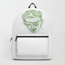 James Joyce - Hand-drawn Geometric Art Print - Green Gradient Backpack