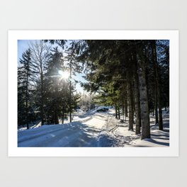 Snow Is Here Art Print