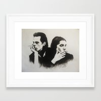 nick cave Framed Art Prints featuring NICK CAVE by Bailey McNicol