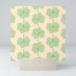 Cute Three Leaf Clover Pattern Mini Art Print