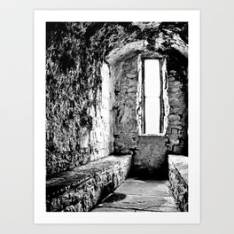 Castle Window B&W Art Print