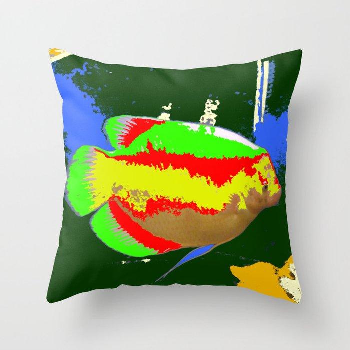 A Cool Fish Throw Pillow