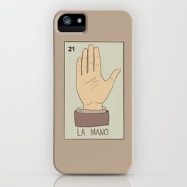 La Mano Card iPhone Case