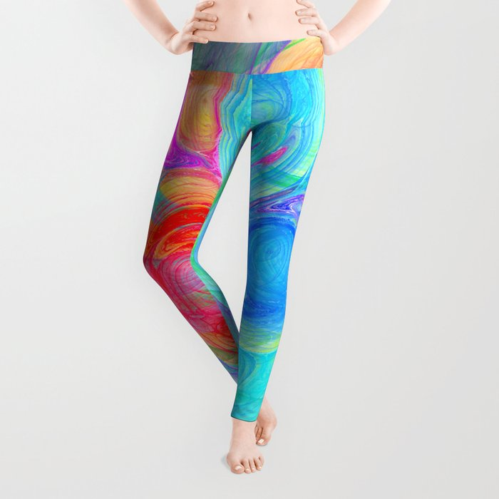 abstract planets Leggings