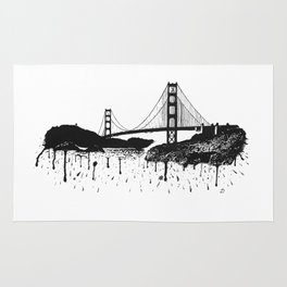 San Francisco's Golden Gate Bridge. Rug