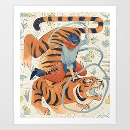 Texas Tiger Kunstdrucke