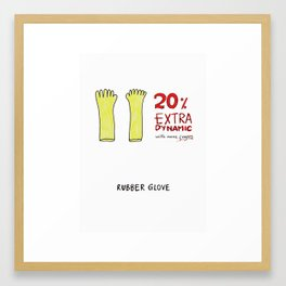 20% extra dynamic with more fingers Framed Art Print