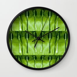 A spoon filled pattern of spoons. Wall Clock