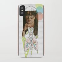lungs iPhone & iPod Cases featuring lungs by Cassidy Rae Marietta