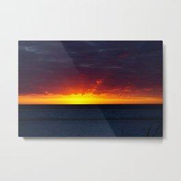 Red Rays at Sundown on Anna Maria Island Metal Print