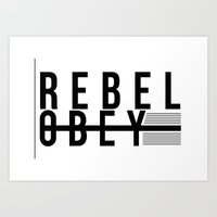 REBEL  |  OBEY Art Print