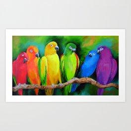Parrots Australia Art Print