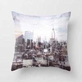 A Layered Empire Throw Pillow