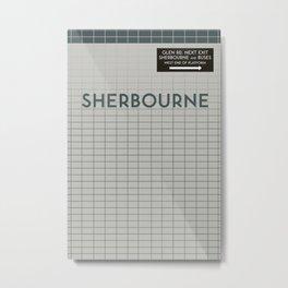 SHERBOURNE  | Subway Station Metal Print