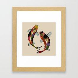 koi chamomile Framed Art Print