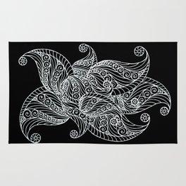 Black and white paisley Rug