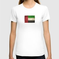 arab T-shirts featuring Old and Worn Distressed Vintage Flag of United Arab Emirates by Jeff Bartels